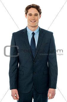 Smart businessman posing casually