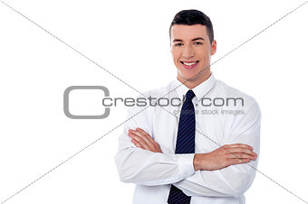 Portrait of young business executive