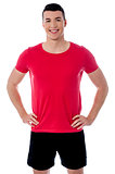 Smiling young fitness trainer