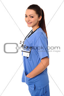 Attractive young lady doctor