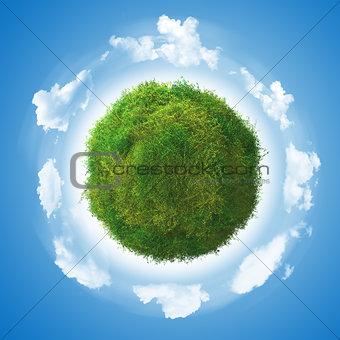 3D clover globe