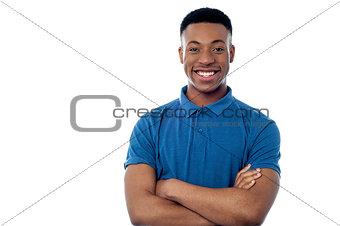 Portrait of handsome african guy
