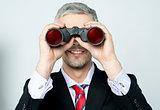 Businessman hunting talents