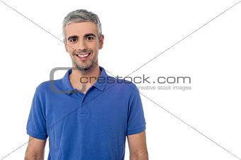 Smiling handsome man isolated over white