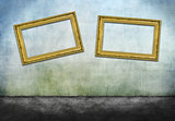 Two crooked golden frames