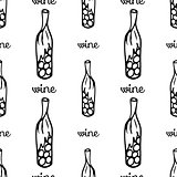 wine seamless pattern