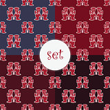 set of seamless pattern with boots