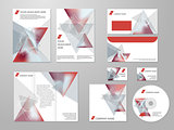 Professional corporate identity kit or business kit with geometric abstract design for your business includes CD, Cover, Business Card, Envelope, Flyers and trif-old brochure.
