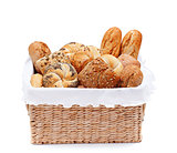 Fresh bakery products in a basket