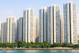 Apartment building. Hong Kong. China.