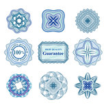 Rossete vector elements for diploma or certificate