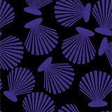 Shells seamless pattern. Vector seashells design