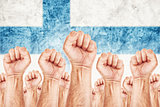Finland Labour movement, workers union strike