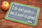 Life is not perfect, but it sure is great