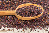 black quinoa grain grown in Bolivia
