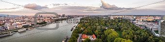 City of Bratislava and Danube River
