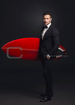 Business surf man