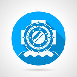 Diving helmet round vector icon