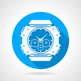 Divers watch round vector icon