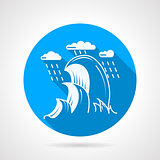 Sea wave round vector icon