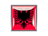 Square icon with flag of albania