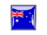 Square icon with flag of australia