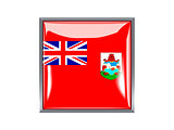 Square icon with flag of bermuda