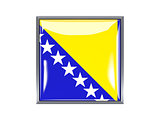 Square icon with flag of bosnia and herzegovina