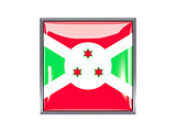 Square icon with flag of burundi