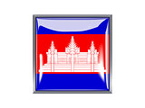 Square icon with flag of cambodia