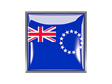 Square icon with flag of cook islands