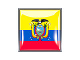 Square icon with flag of ecuador