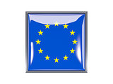 Square icon with flag of european union