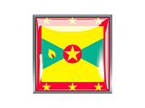 Square icon with flag of grenada