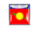 Square icon with flag of guadeloupe