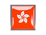 Square icon with flag of hong kong