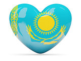 Heart shaped icon with flag of kazakhstan