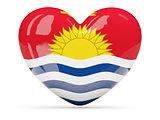 Heart shaped icon with flag of kiribati