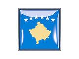 Square icon with flag of kosovo