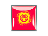 Square icon with flag of kyrgyzstan