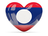 Heart shaped icon with flag of laos