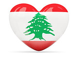 Heart shaped icon with flag of lebanon