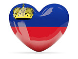 Heart shaped icon with flag of liechtenstein