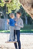 family at swings