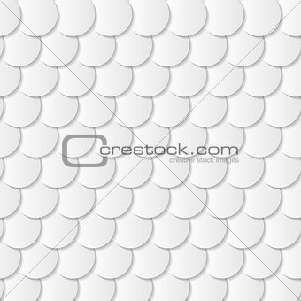 Grey paper circle shapes background
