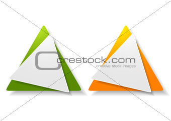 Abstract triangle shape vector sticker