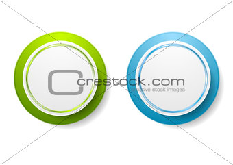 Abstract green and blue circle stickers