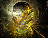 Cobweb whirls abstract bright color swirl on the basis of the dark. Fractal art graphics