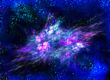 Cosmic explosion bright lilac mysterious gas