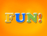 Fun Colorful Letters Concept